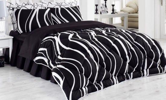 beyaz dalga desenli bellona uyku seti