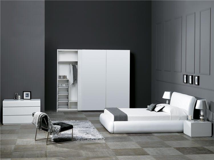 beyaz modern milano yatak odasi