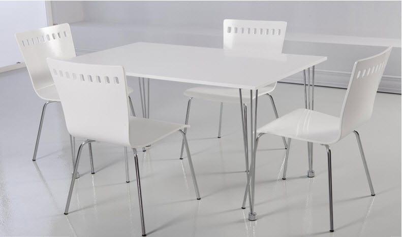 beyaz tekzen mutfak masası