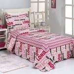 celebrity alex pembe tek kişilik yatak örtüsü