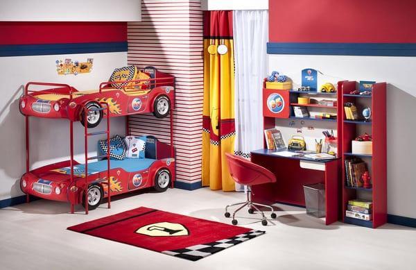 cilek arabali erkek cocuk odasi