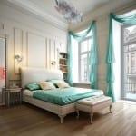 dekoratif yatak odasi perde modelleri