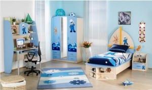Deniz temalı çocuk oda dekorasyonu