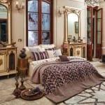 desenli yatak örtüleri