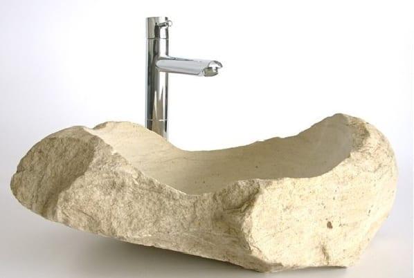 dogal tas banyo lavabosu