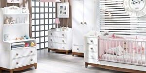 dogtas beyaz bebek odasi