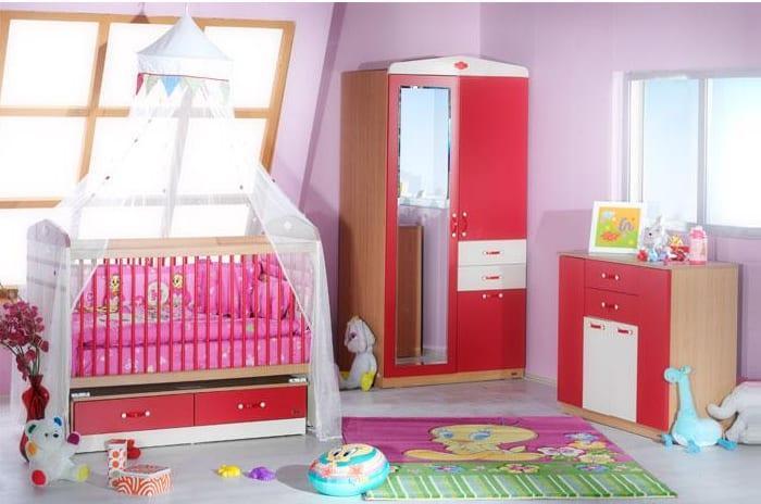 Kırmızı İstikbal Bebek Odası