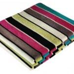 english home cizgi desenli rengarenk battaniye modelleri