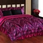 fusya rengi zebra desenli bellona uyku seti