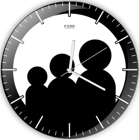 genel aile logolu dekoratif duvar saat modeli