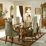 gosterisli rustik yemek odasi