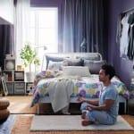 ikea konforlu yatak odaları