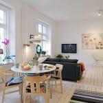 iskandinav tarzi salon dekorasyonu