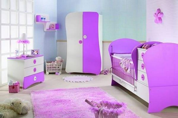 İstikbal Mor Kız Bebek Odası Modelleri
