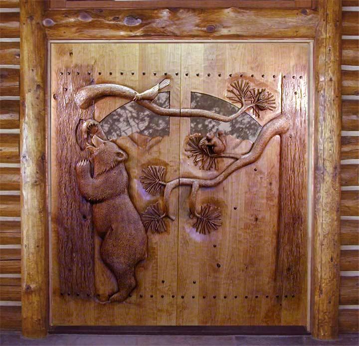 Kabartma desenli dekoratif dis mekan kapisi dekorstyle
