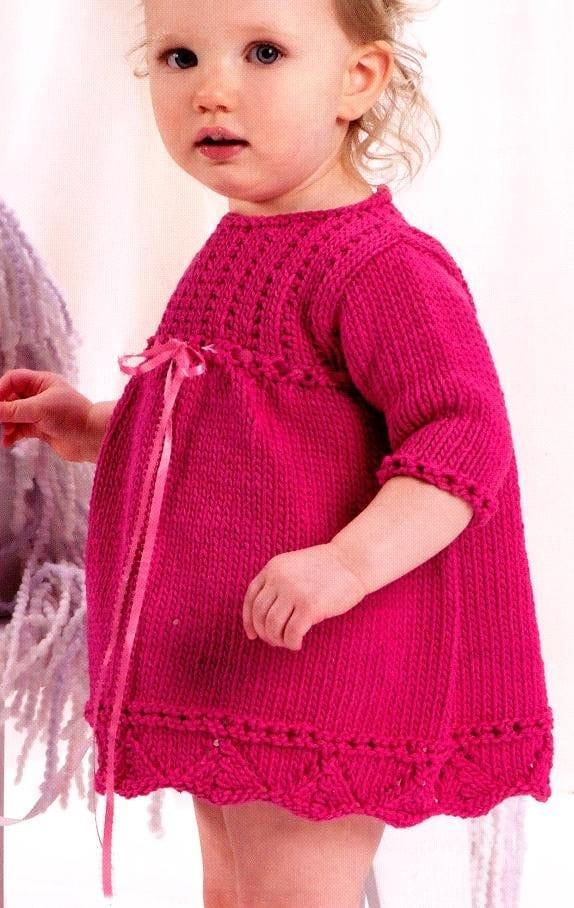 kapri kol orgu bebek elbisesi