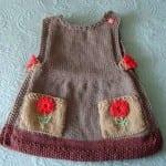 kiz bebek orgu elbise modeli