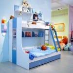 Mavi Beyaz Ranzalı Çocuk Odası Modelleri