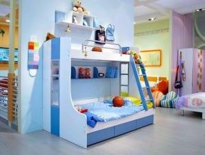 mavi beyaz ranzali cocuk odasi modelleri