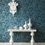 mavi desenli yeni moda duvar kagitlari