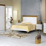 merinos altin varakli klasik yatak odasi takimi
