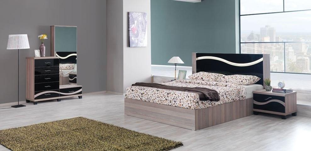 milano cordoba siyah yatak odasi