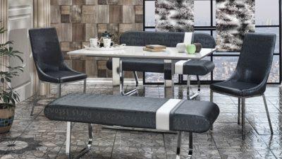 Yeni Trend Banklı Mutfak Masası Modelleri