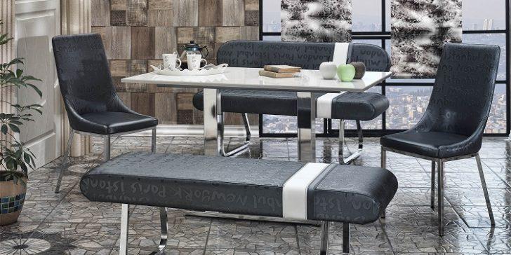 Yeni Trend Banklı Mutfak Masası Modelleri 2015