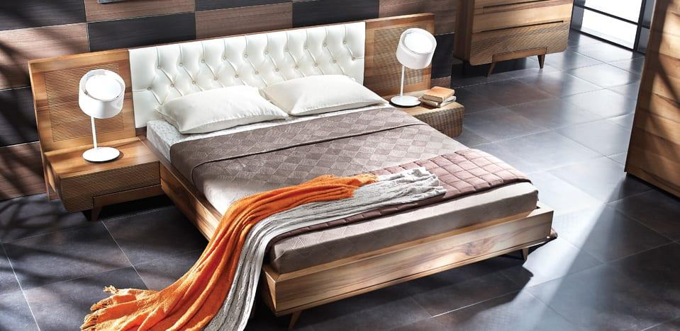 modern dogtas yatak odasi modelleri