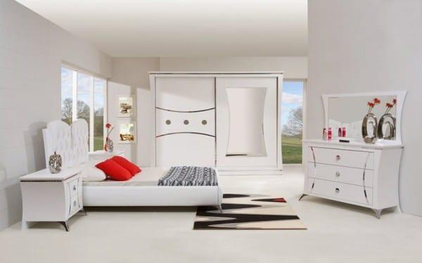 mondi beyaz modern yatak odasi takimi