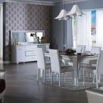 mondi beyaz modern yemek odasi takimlari