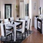 mondi siyah beyaz modern yemek odasi