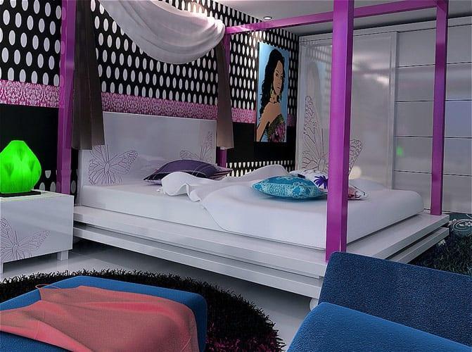 origami cibinlikli yeni moda yatak odalari