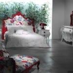 origami roze yatak odasi
