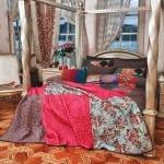 patchwork tasarımlı vande yatak örtüsü