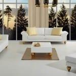 Rapsodi mobilya beyaz koltuk takımı