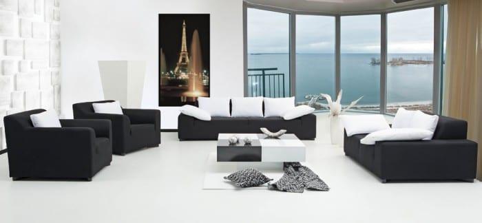 Rapsodi siyah modern koltuk modelleri