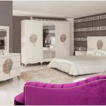 tekzen krem rengi Yatak Odası