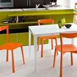turuncu dekoratif mutfak masası modeli
