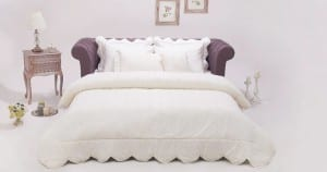 Yataş Enza Home Giselle Ekru Yatak Örtüsü
