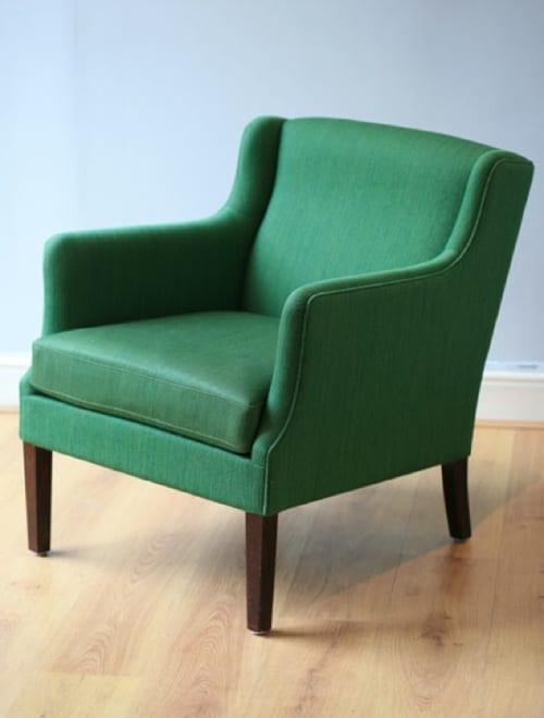 yeşil modern berjer koltuk