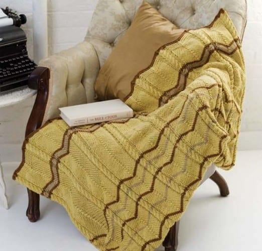 İki renkli el orgusu battaniye