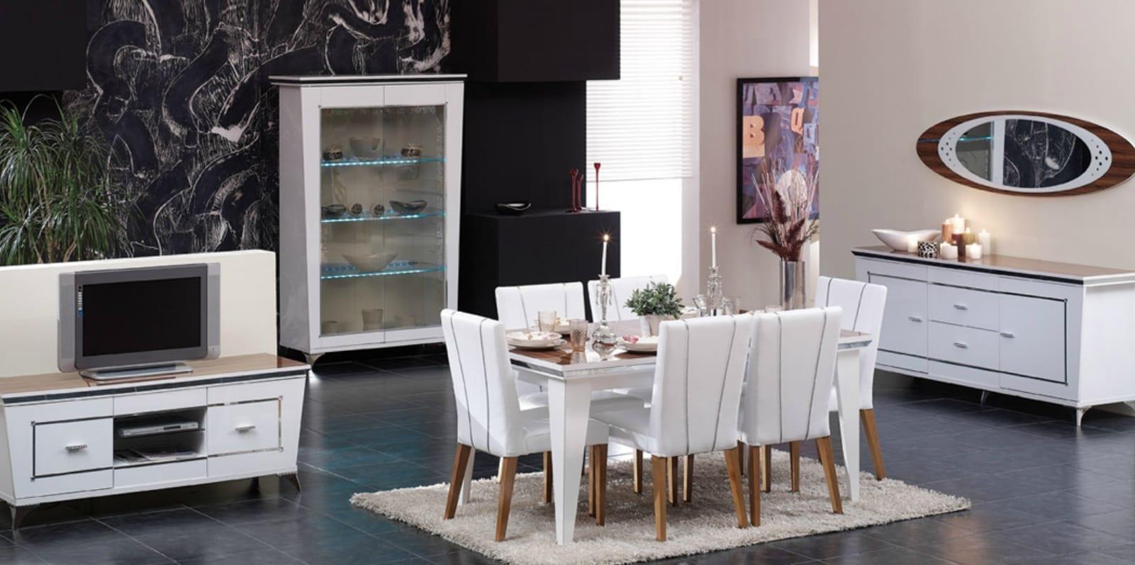 ALDORA bianco yemek odasi modelleri