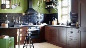 IKEA ahsap mutfak dolabi modelleri