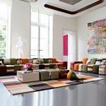 Roche bobois rengarenk oturma grubu modeli