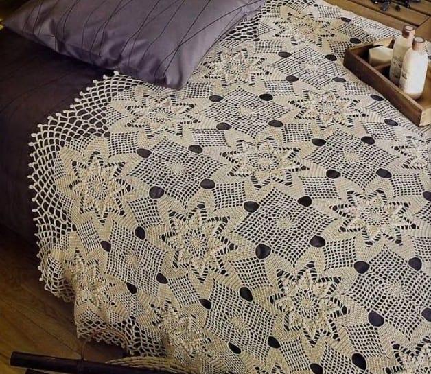 Yeni dantel yatak ortusu modelleri