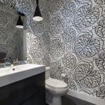 banyolarda vinil duvar kagidi modelleri
