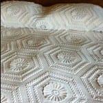 beyaz dantel yatak ortusu