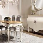 beyaz gosterisli yemek odasi