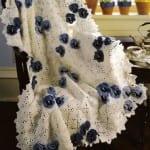 cicek motifli orgu battaniye